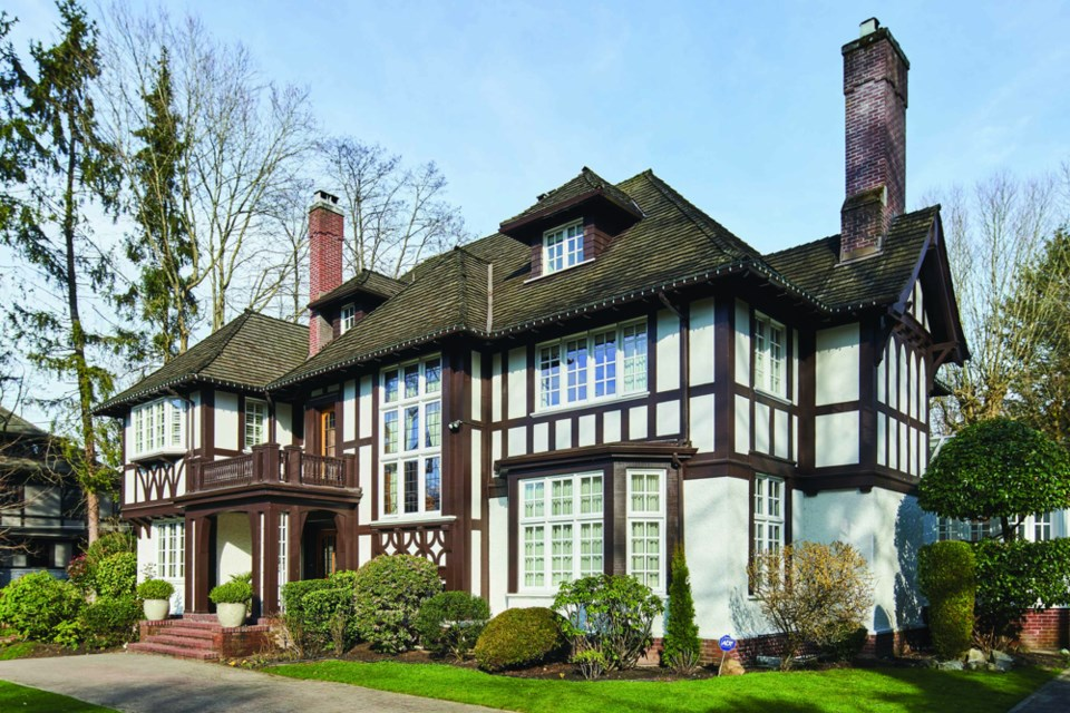 Since it was built in 1921, this property in First Shaughnessy has been home to several successful business men, as well as Hollywood stars Goldie Hawn and Kurt Russell. Photo Vancouver Heritage Foundation