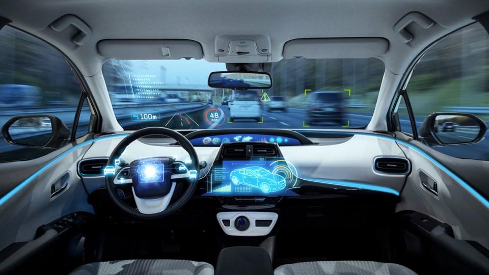 autonomous car on highway