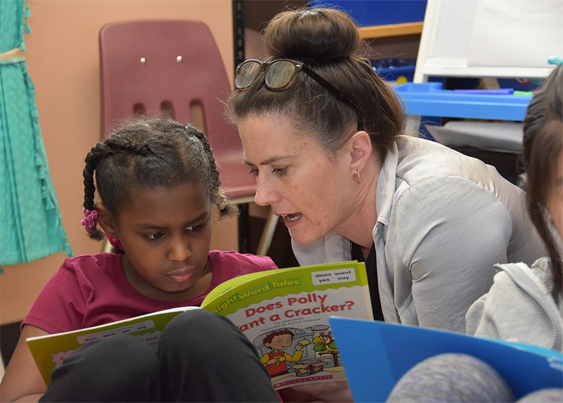 Kyme Wegrich, with Aya, has been teaching in an inclusive way, using various teaching styles to ensure that all her Grade 3 and 4 students get their learning needs met. The Walton elementary school teacher has been honoured with a 2018 National Inclusive Education Award and will be traveling to Kelowna this week to participate in ceremonies.