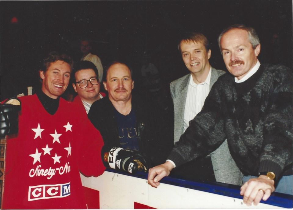 Tony Gallagher with Wayne Gretzky