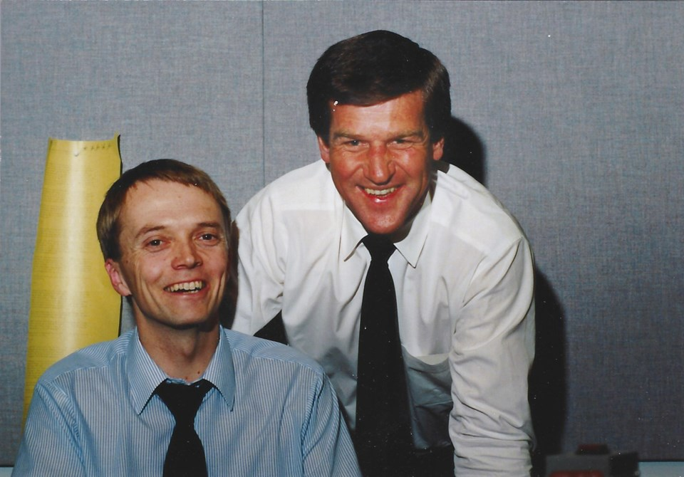 Tony Gallagher with Bobby Orr