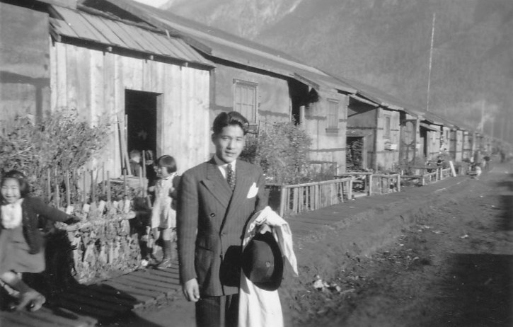 Jennifer Spence's grandfather, Tony Uno, at Woodfibre, B.C. in the 1940s.