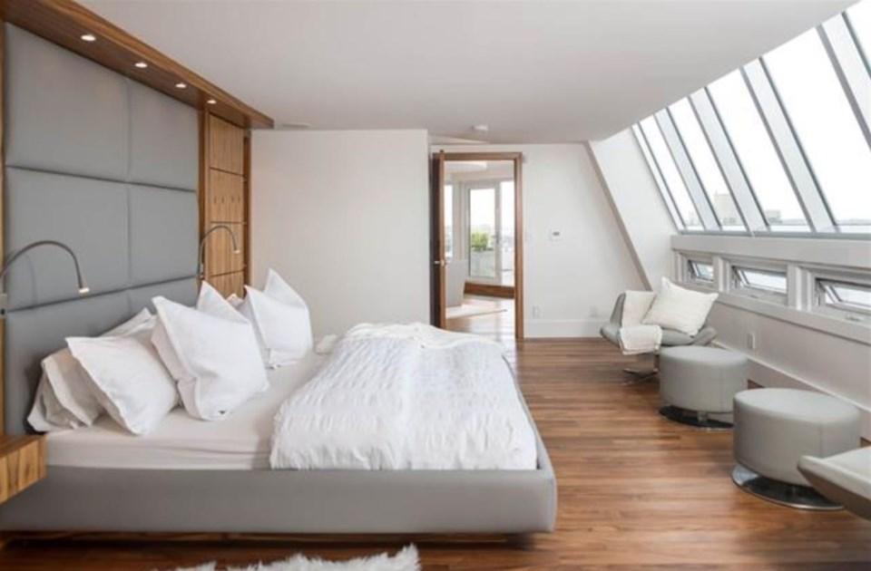 Harwood penthouse bedroom