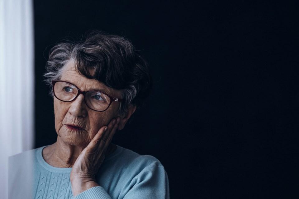 senior woman concerned seniors
