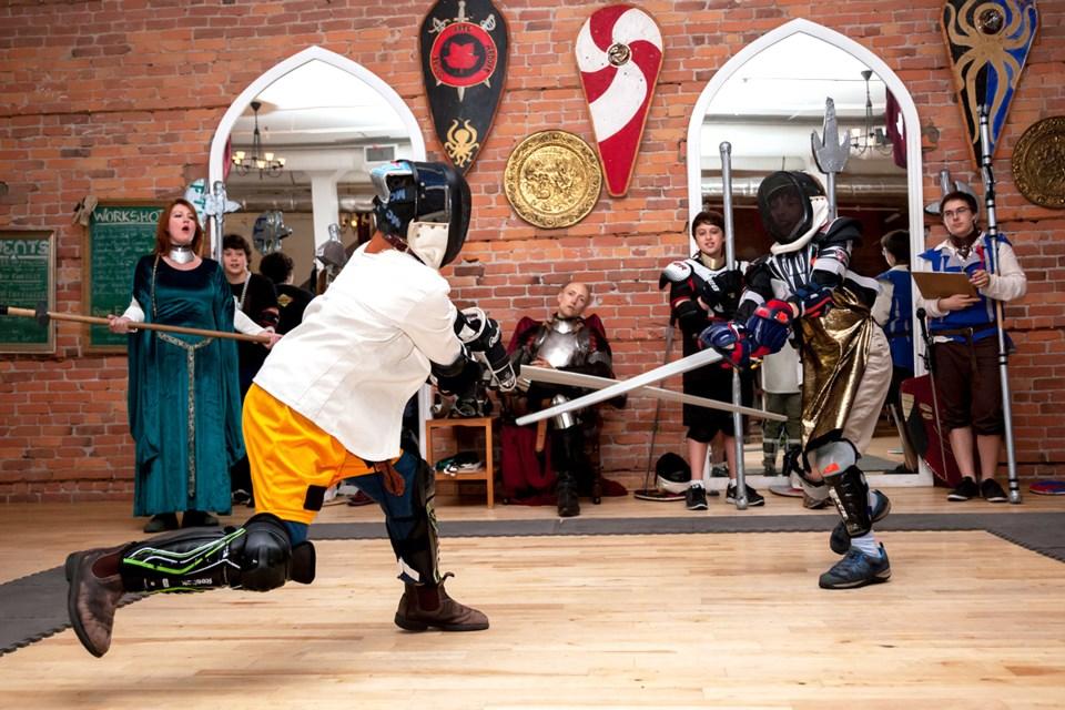 Knight Camp sword fight