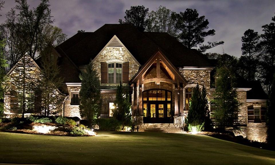 Floodlight house luxury real estate