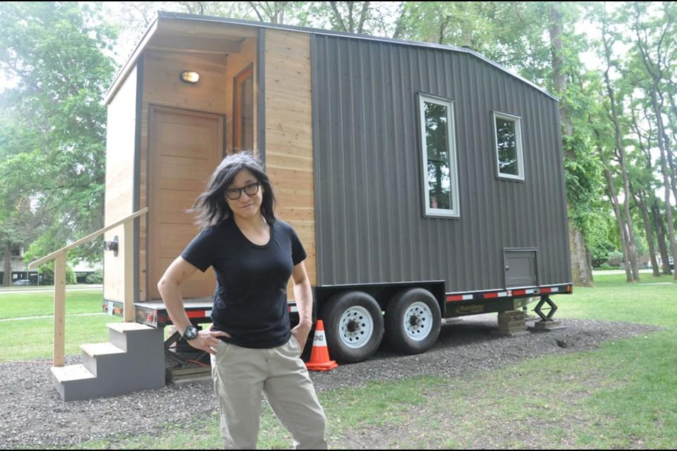 Vancouver artist Germaine Koh's new exhibit explores alternative housing solutions. Daisy Xiong photo