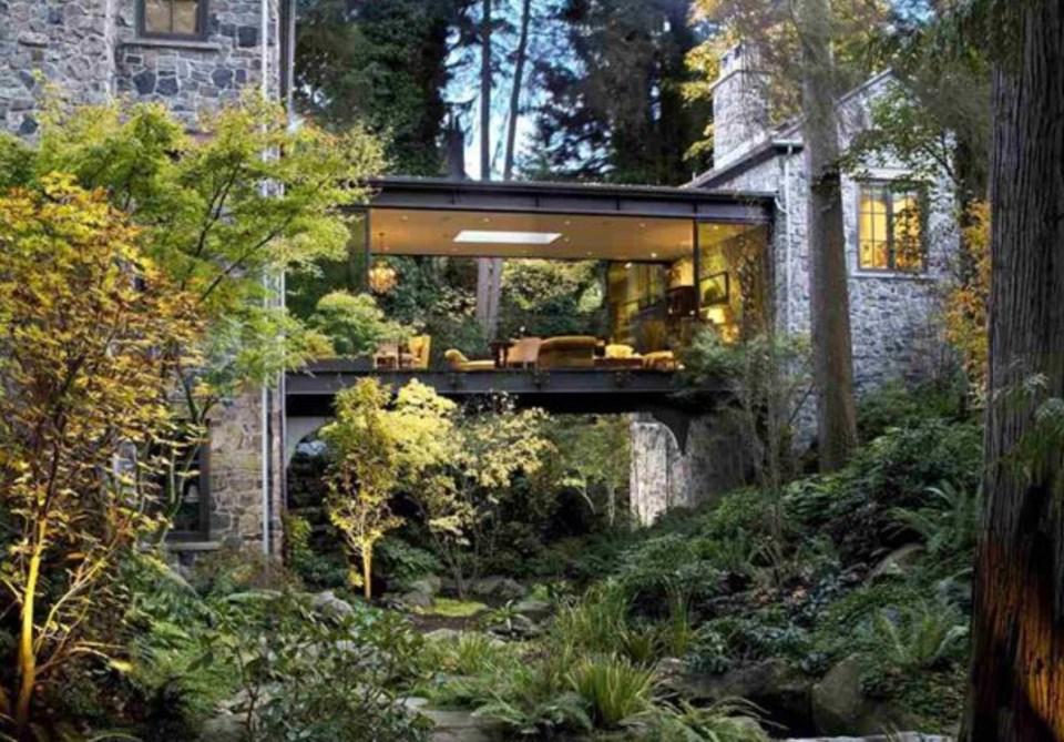 Southlands forest house exterior bridge