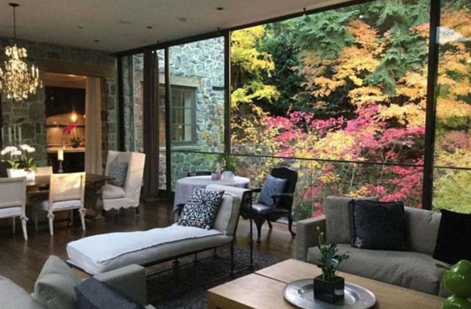 Southlands forest house interior living bridge