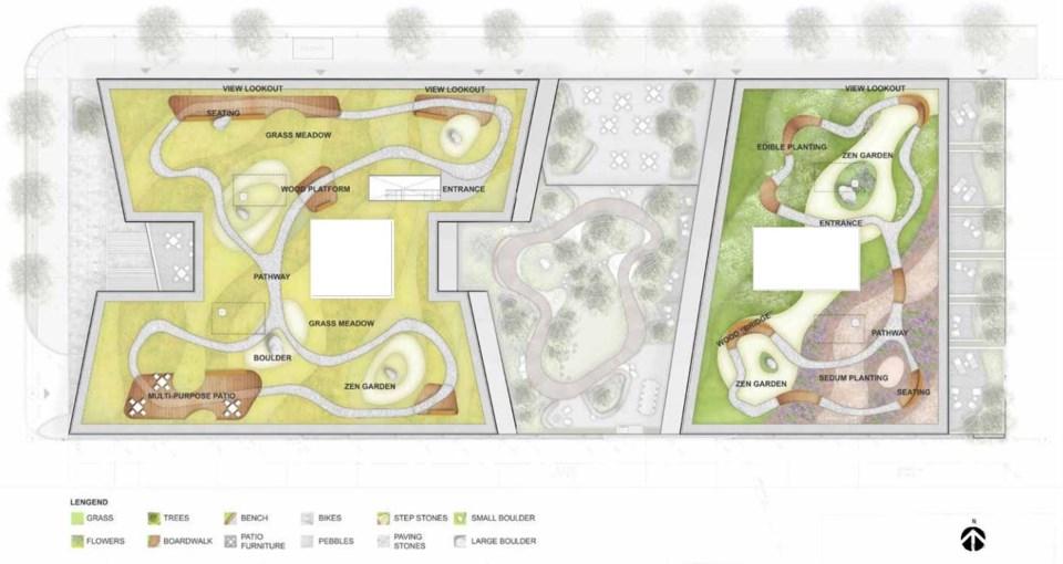 West Broadway hospital roof plan