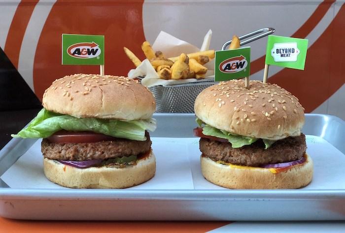 Beyond Meat A & W burger