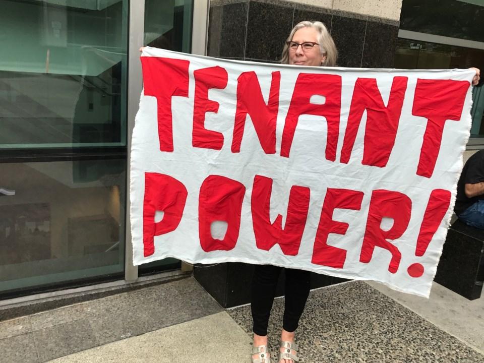 Vancouver Tenant Union member Stephanie Langford