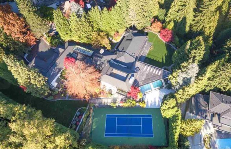 Chartwell most expensive house aerial