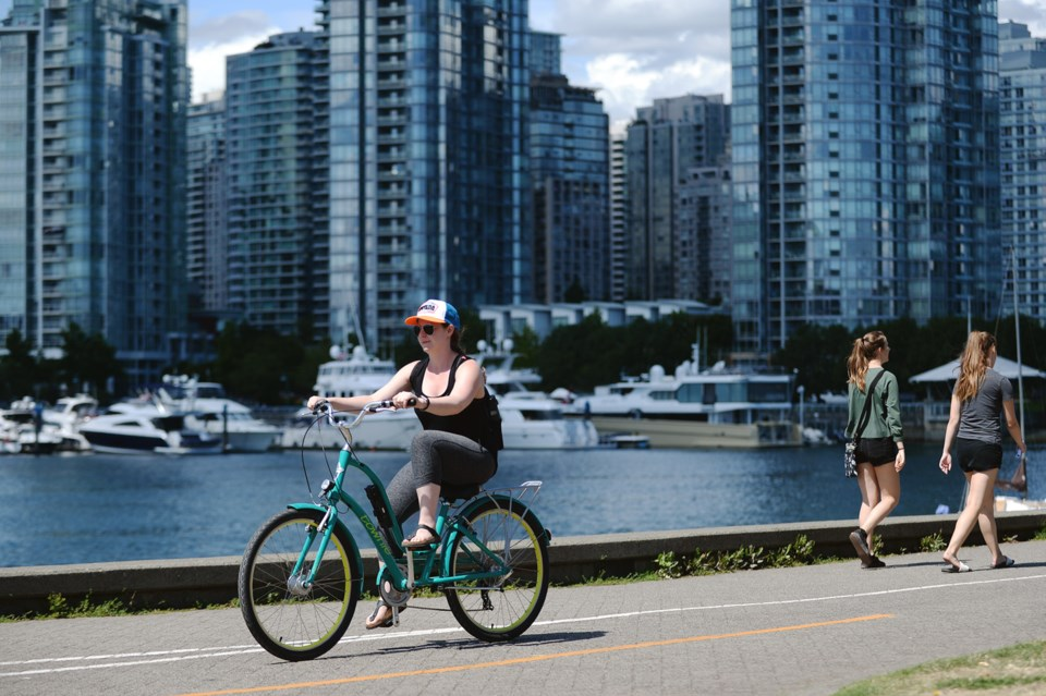 Let's Go Biking: Easy Rides, Walks & Runs Around Vancouver incudes 84 different cycling routes in Va
