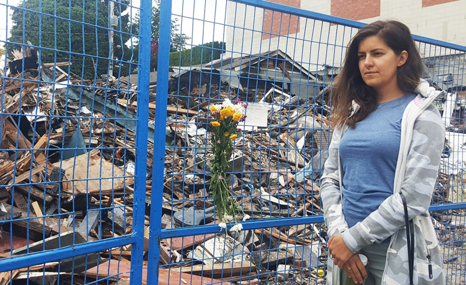 Lenka, who lost everything in the 2906 West 4th Avenue fire