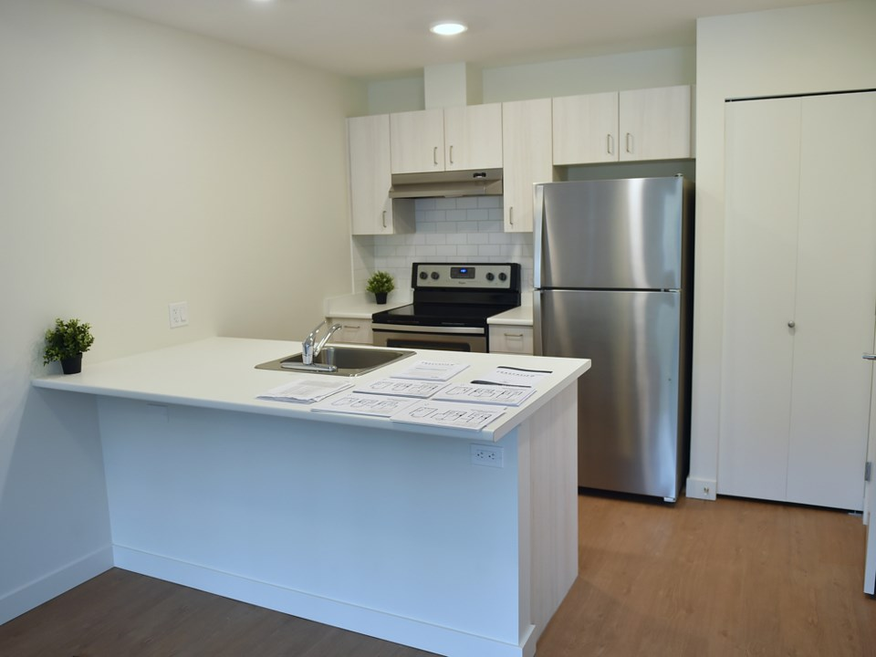 This kitchen in one of the units of Fraserview Housing Co-op at 2910 East Kent Ave. Photo Dan Toulgo