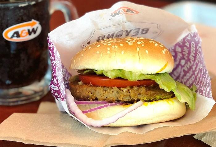 A&W vegan burger