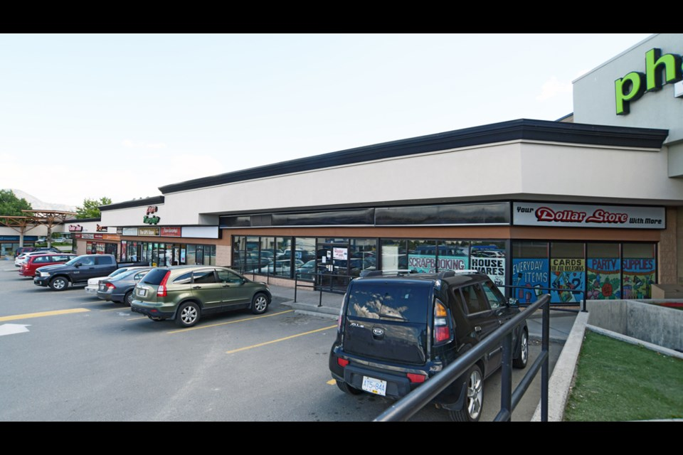 The new store's location next to Save-On Foods in Columbia Place Shopping Centre.