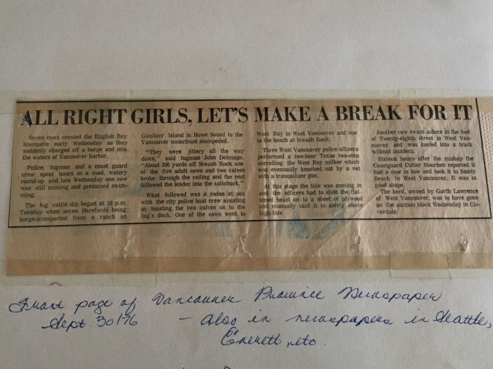 From the front page of the Province newspaper, Sept. 30. 1976.