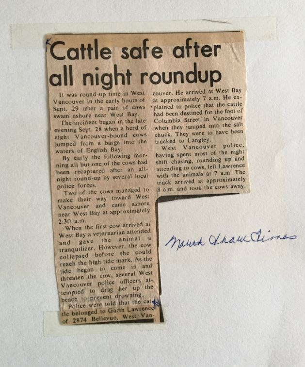 Article on the incident from the North Shore News.