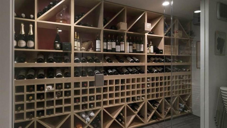 Erickson Hwang house wine room