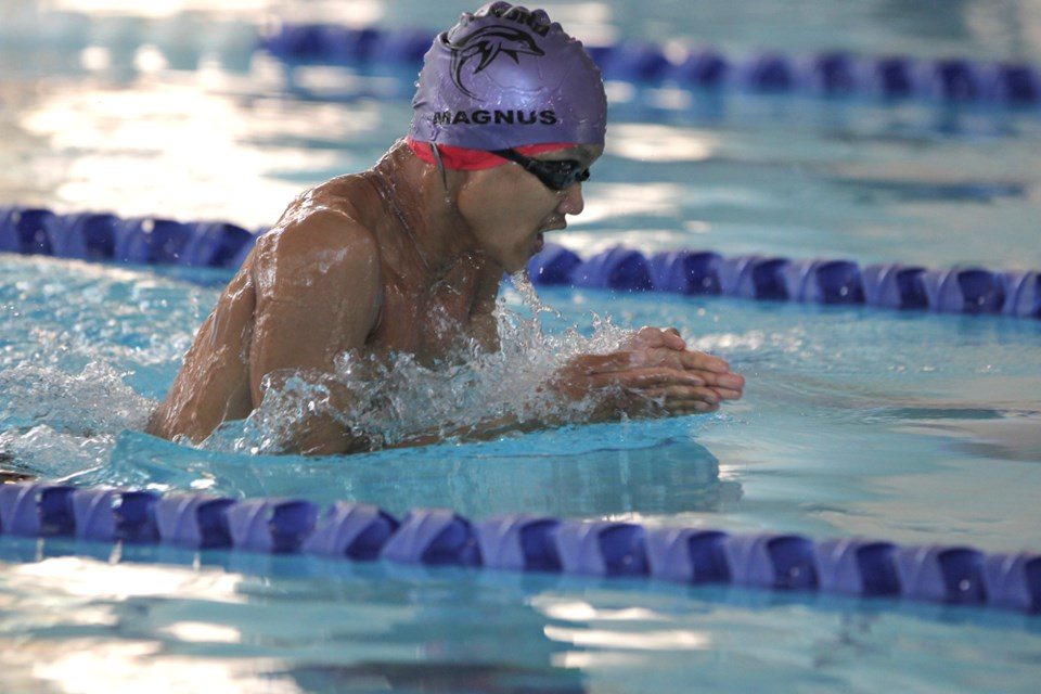 Richmond athlete Magnus Batara competing at the 2013 Special Olympics BC Summer Games. Photo submitted