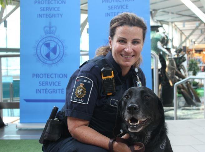 Det. Danielle Getzie and her dog, Nova. Photo: Alyse Kotyk
