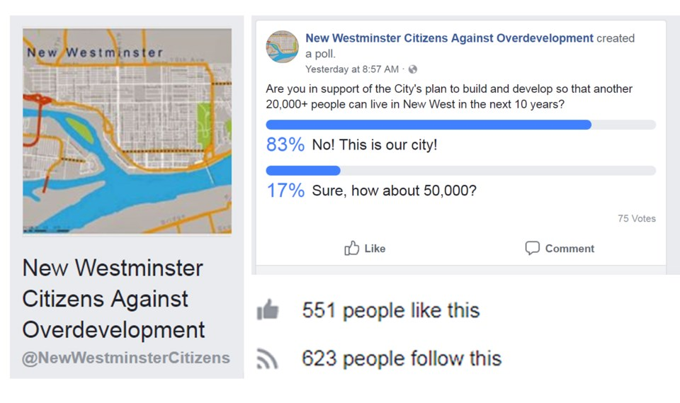 facebook page new westminster overdevelopment