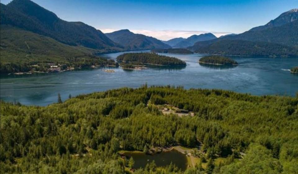 Stuart Island aerial view