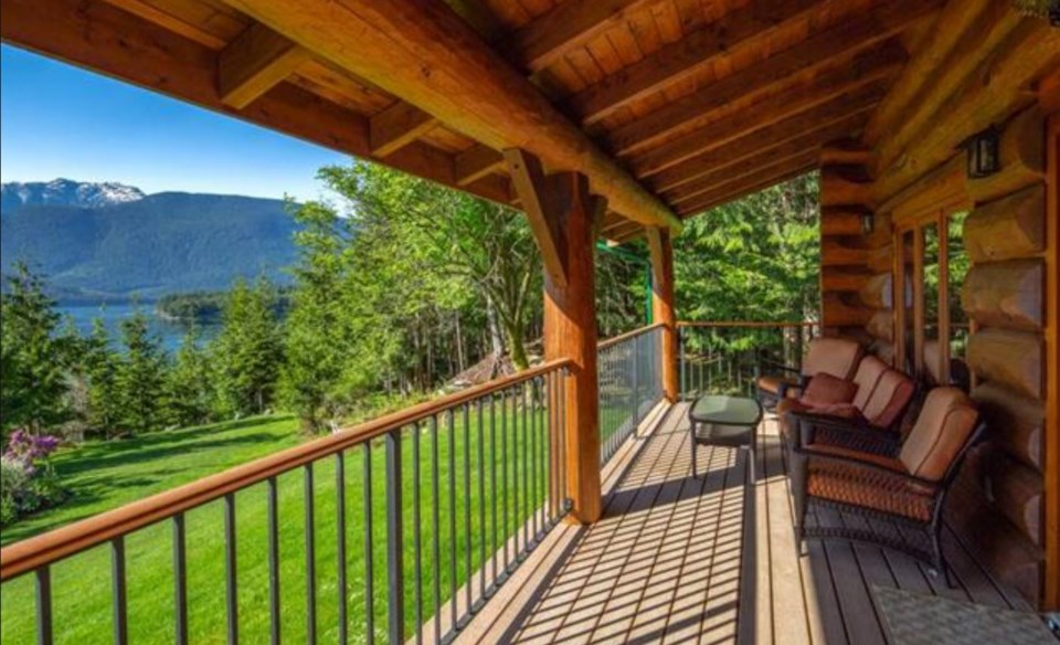 Stuart Island caretaker cottage terrace view