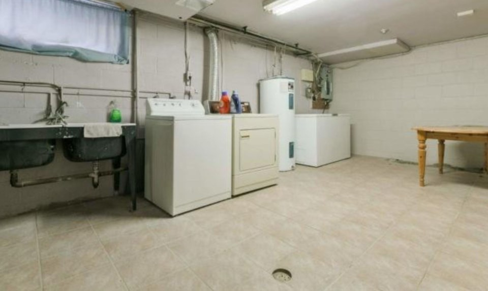 Rob Ford home basement laundry room