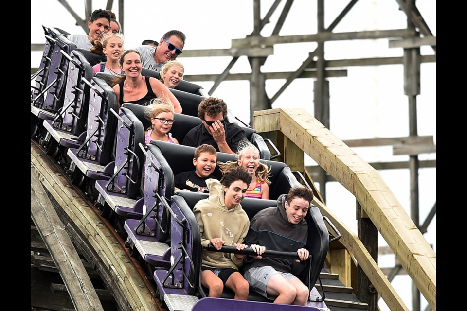 Playland's Wooden Coaster is marking its 60th anniversary this summer. Photo Dan Toulgoet