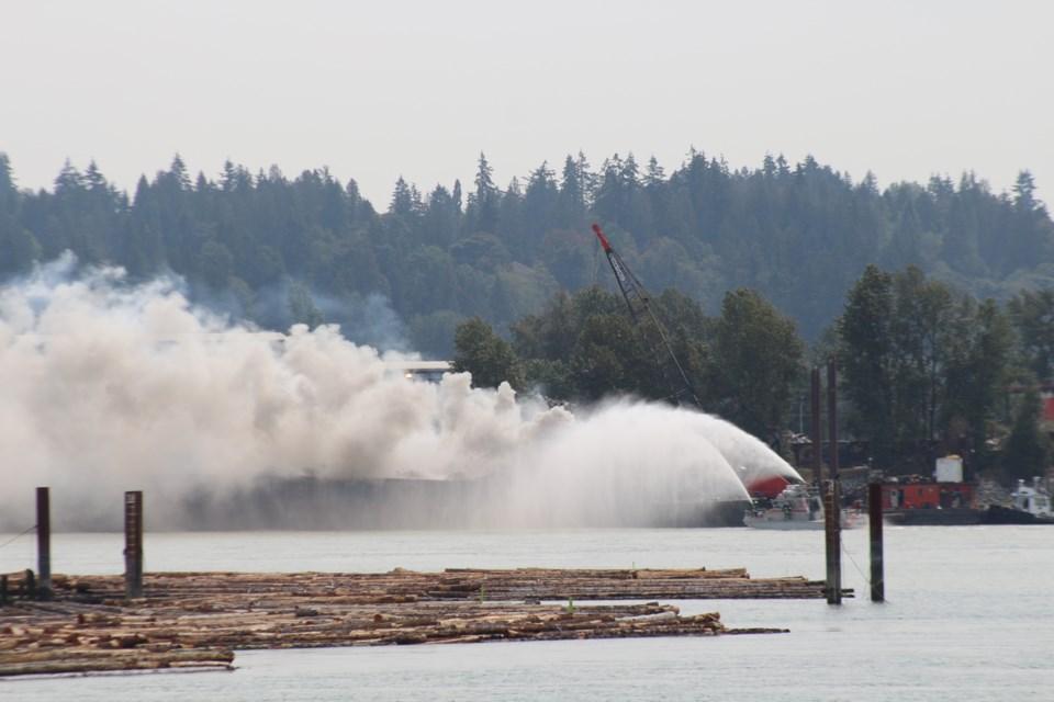 Fraser River barge fire