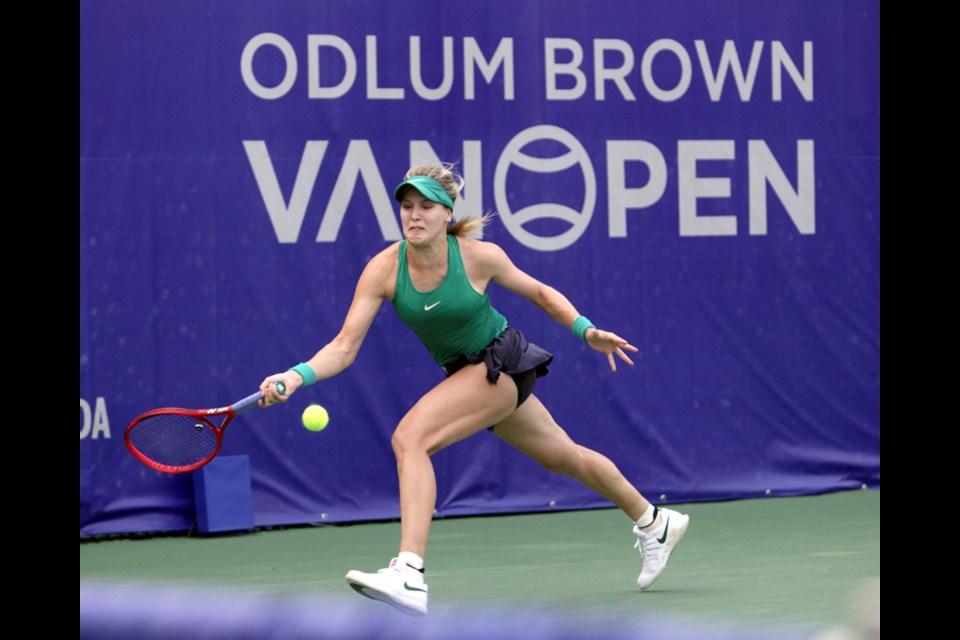 Eugenie Bouchard at the Odlum Brown VanOpen. photo Lisa King, North Shore News