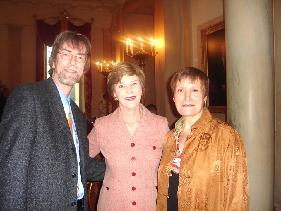 Spider and Jeanne Robinson with Laura Bush