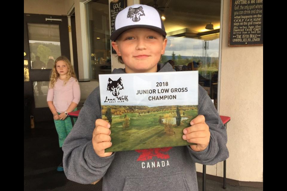 Trip Turnbull, 9, Lone Wolf Golf Club's 2018 junior champion.