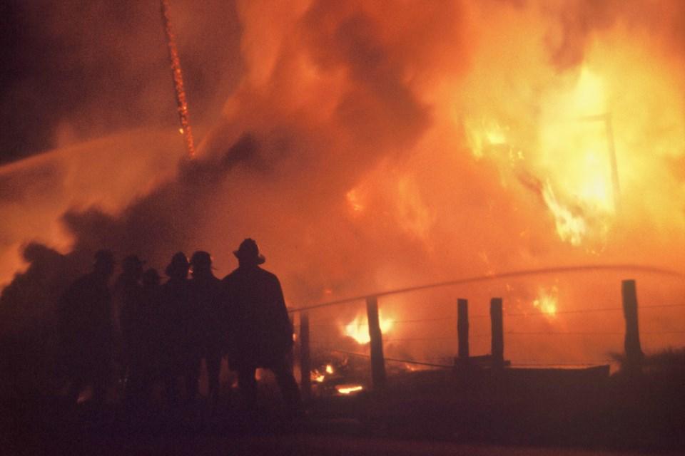 Richmond fire, early 1960s. Photo: © K.E. Eiche