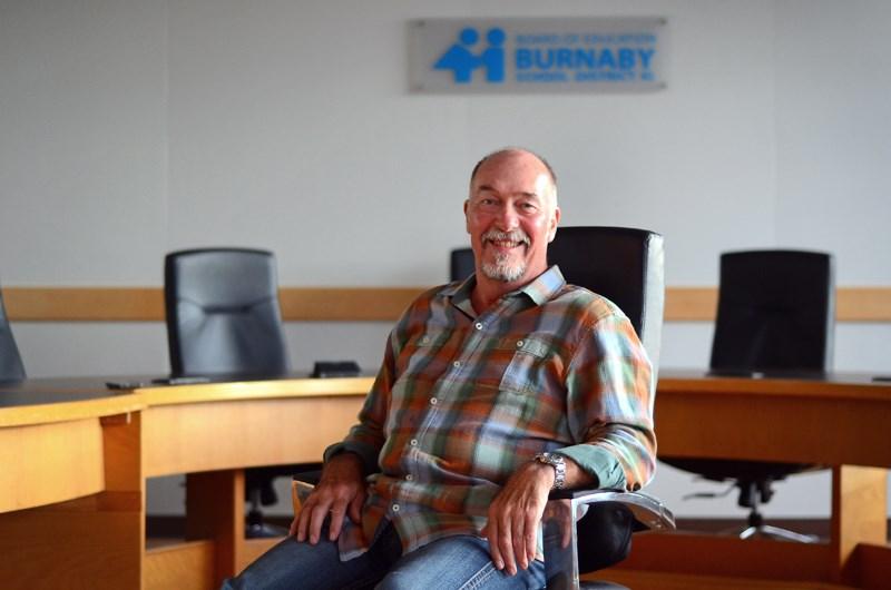 Longtime Burnaby school board trustee Ron Burton retired in June after 31 years of service.