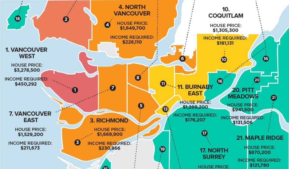 Metro Vancouver house price income gap Zoocasa