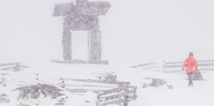 Snowfall Whistler Peak