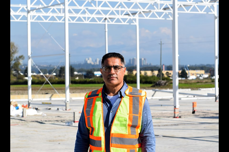 Avtar Dhillon has resumed construction of two greenhouses on his farm after the BC Supreme Court sided with him, saying Richmond did not have the authority to forbid medical cannabis production on the ALR. Photo: Richmond News/Megan Devlin