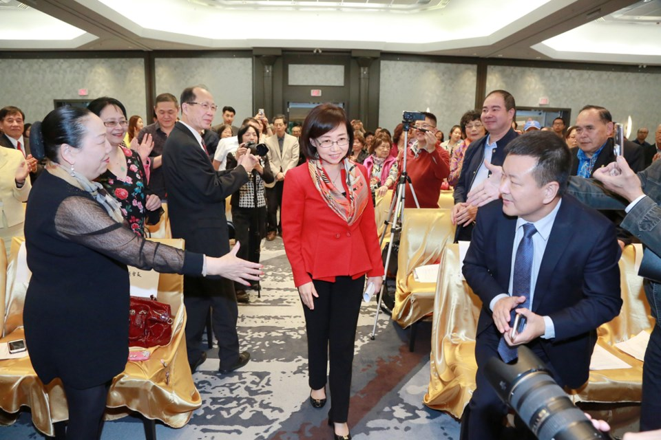 Hong Guo announced her mayoral bid in June. File photo