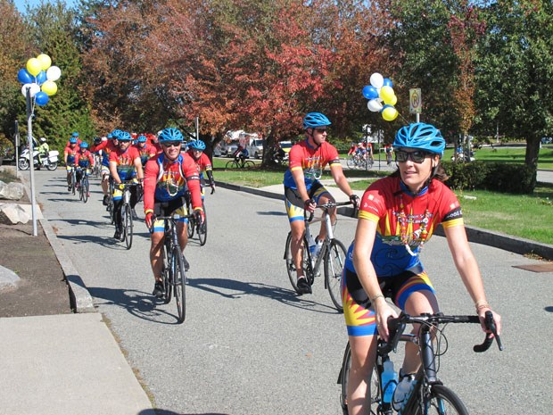 Cops for Cancer Tour de Valley paid a visit to Delta Wednesday afternoon.