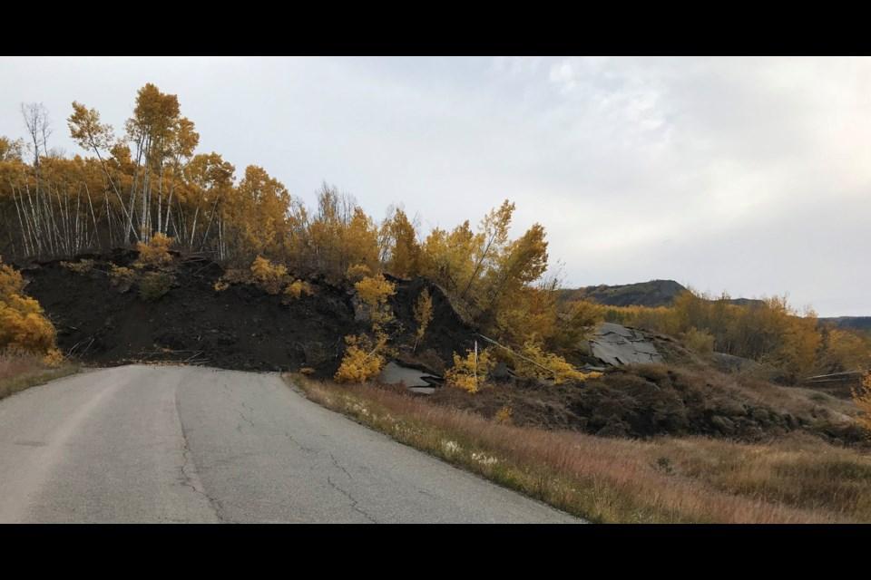 Old Fort landslide, Oct. 1, 2018.