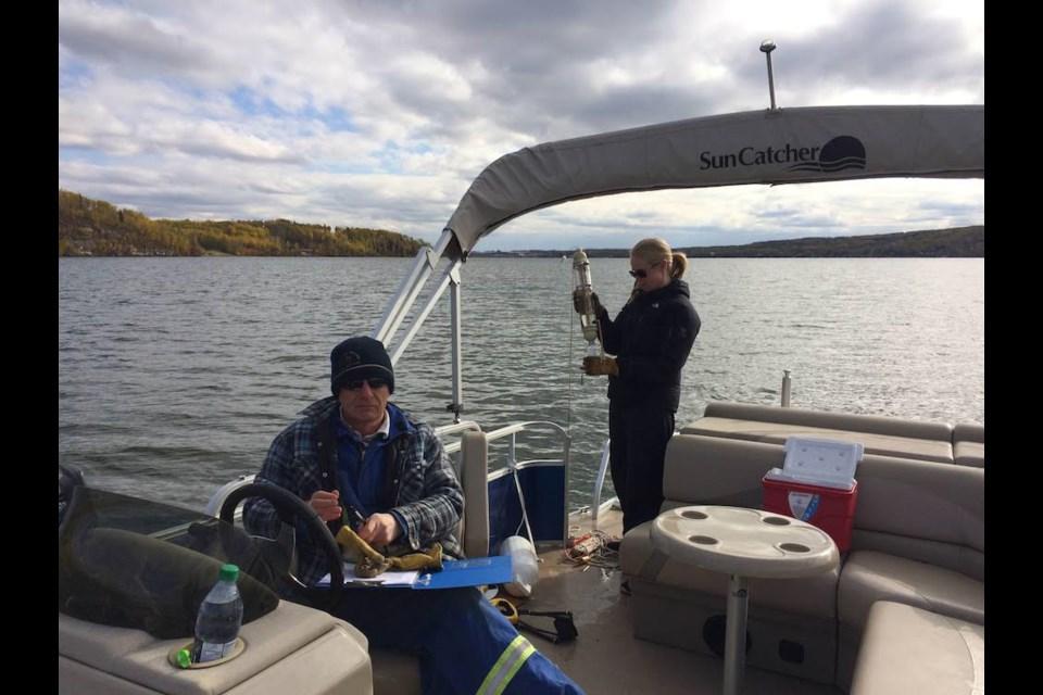 Charlie Lake Conservation Society water sampling.