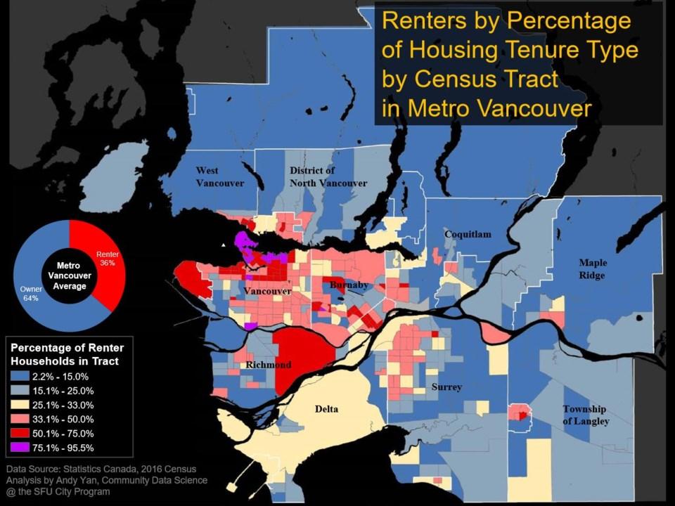 New Metro Van renter map