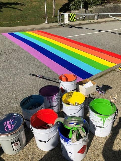 Moscrop, rainbow crosswalk