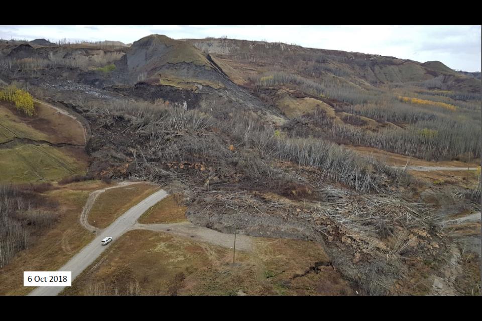 Old Fort landslide, Oct. 6, 2018.