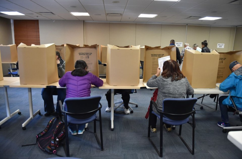 Advance voting stations are now open. Photo Dan Toulgoet