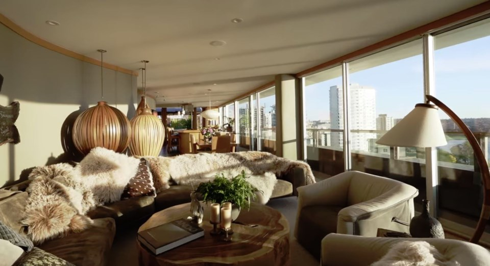 West End penthouse living room